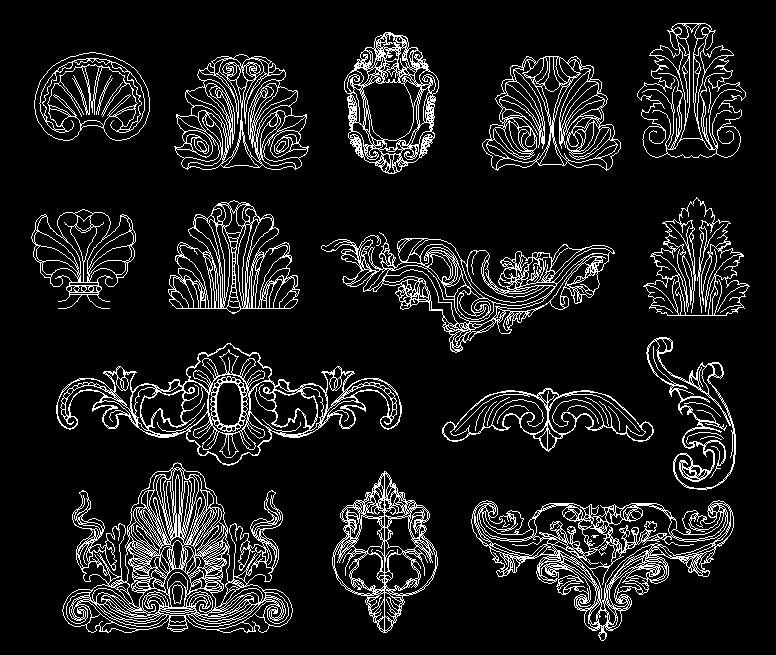欧式家具椅子cad设计图集
