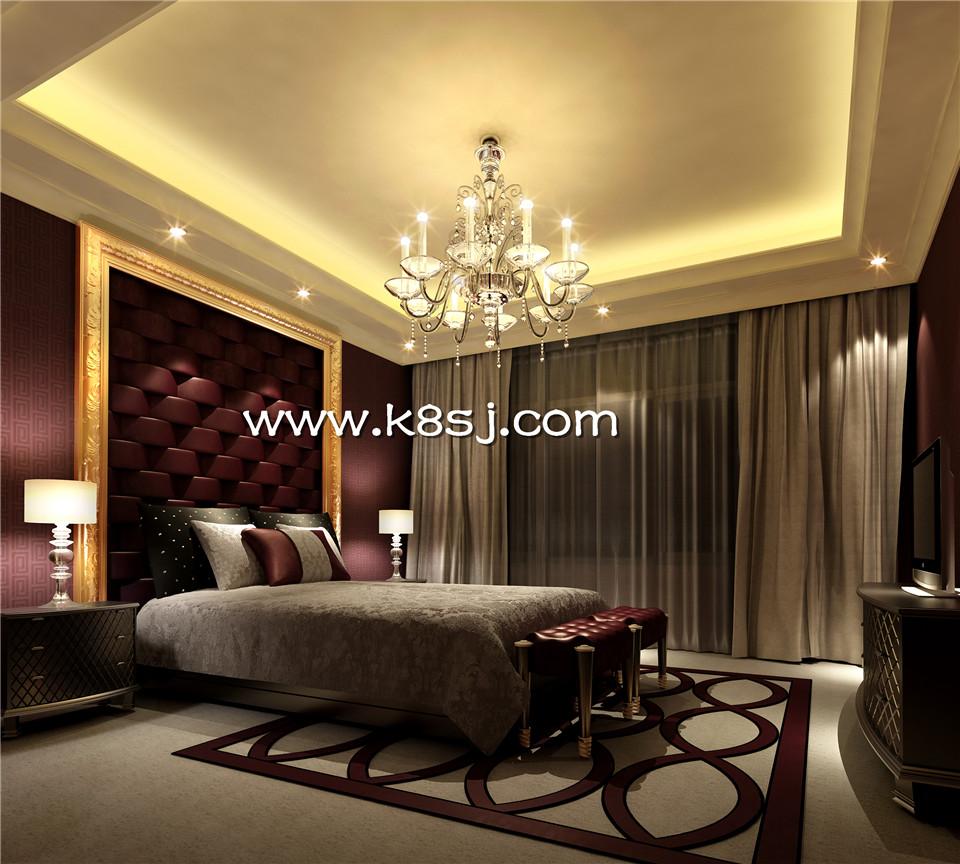 欧式古典风格卧室电视柜整体3d模型-编号978