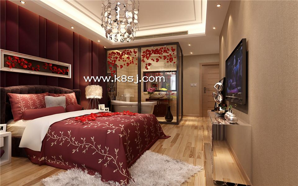 欧式风格卧室电视柜整体3d模型-编号1022