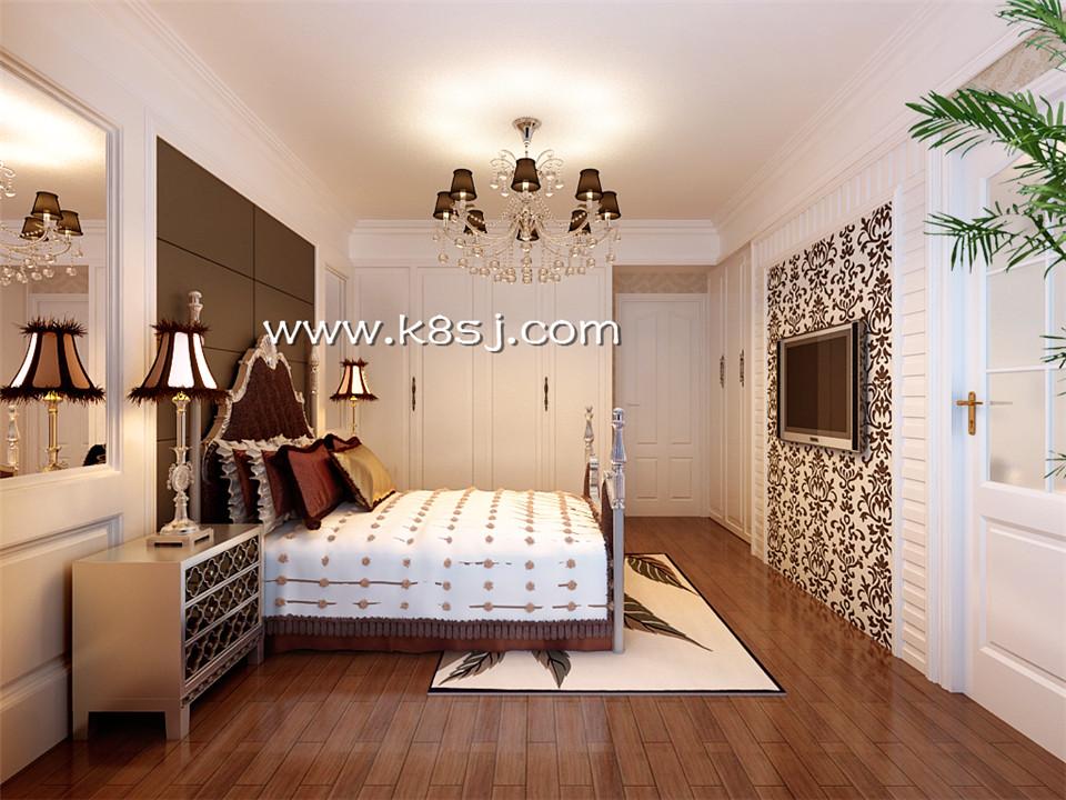 欧式风格卧室衣柜整体3d模型-编号1039