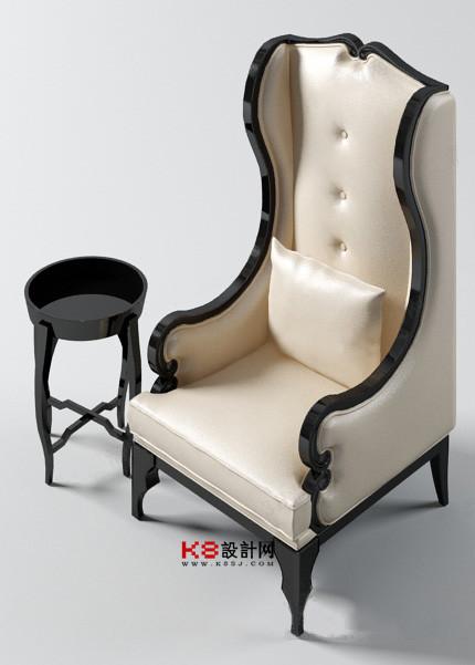 欧式风格椅子组合单体3d模型-编号2184